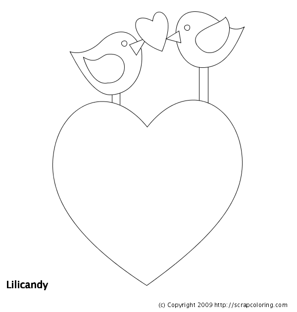 big heart coloring printable pages - photo#10