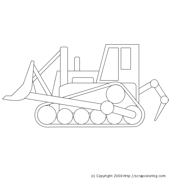 bulldozer coloring page