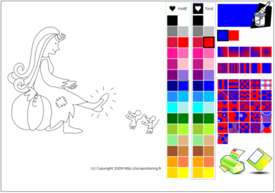 Coloring App interface