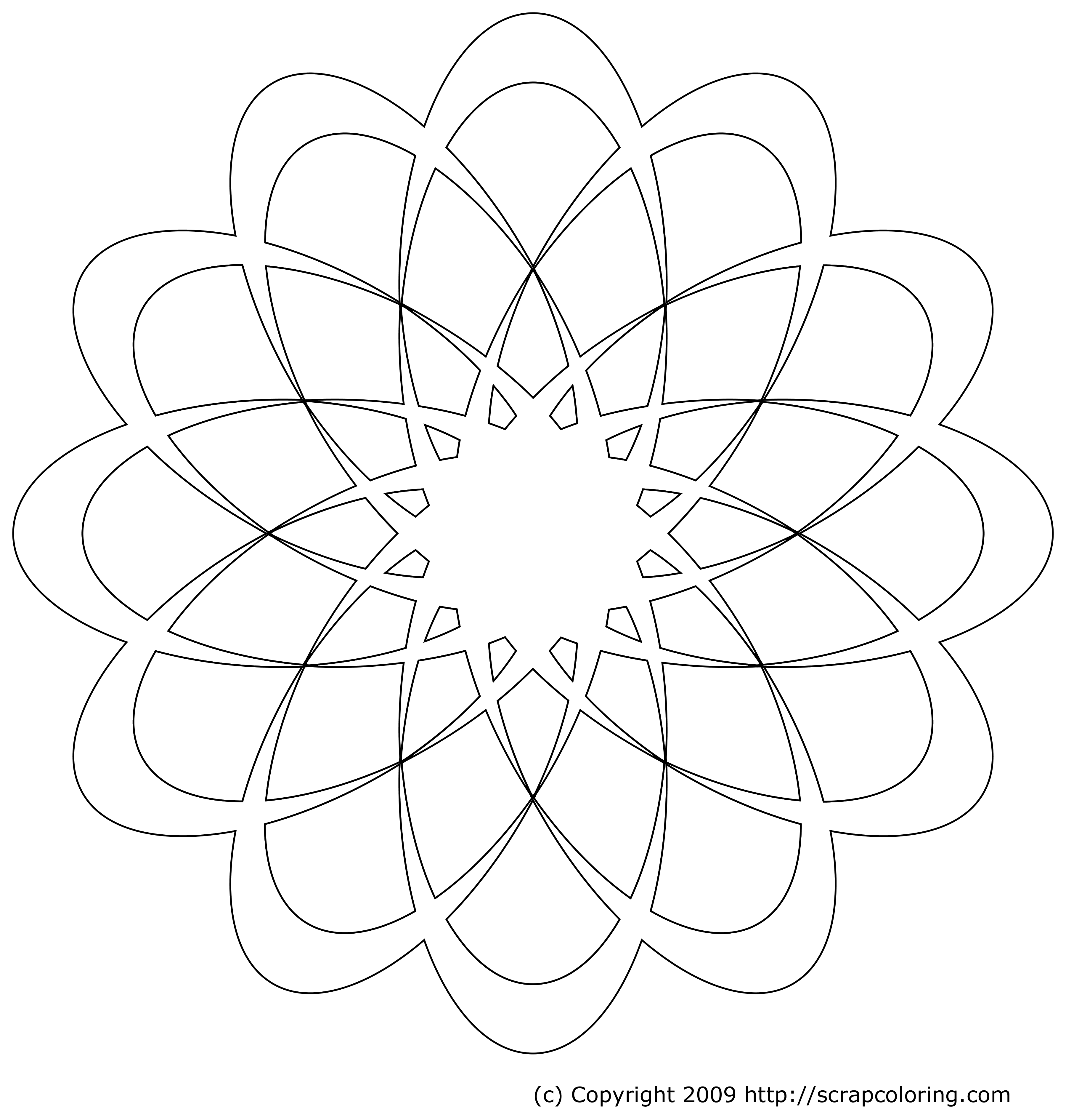 dahlia rose window coloring page