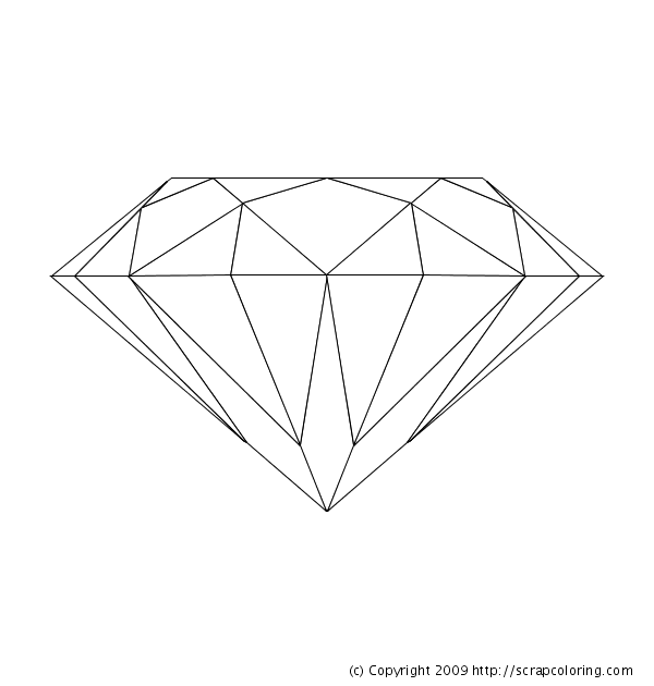 diamond coloring page diamond