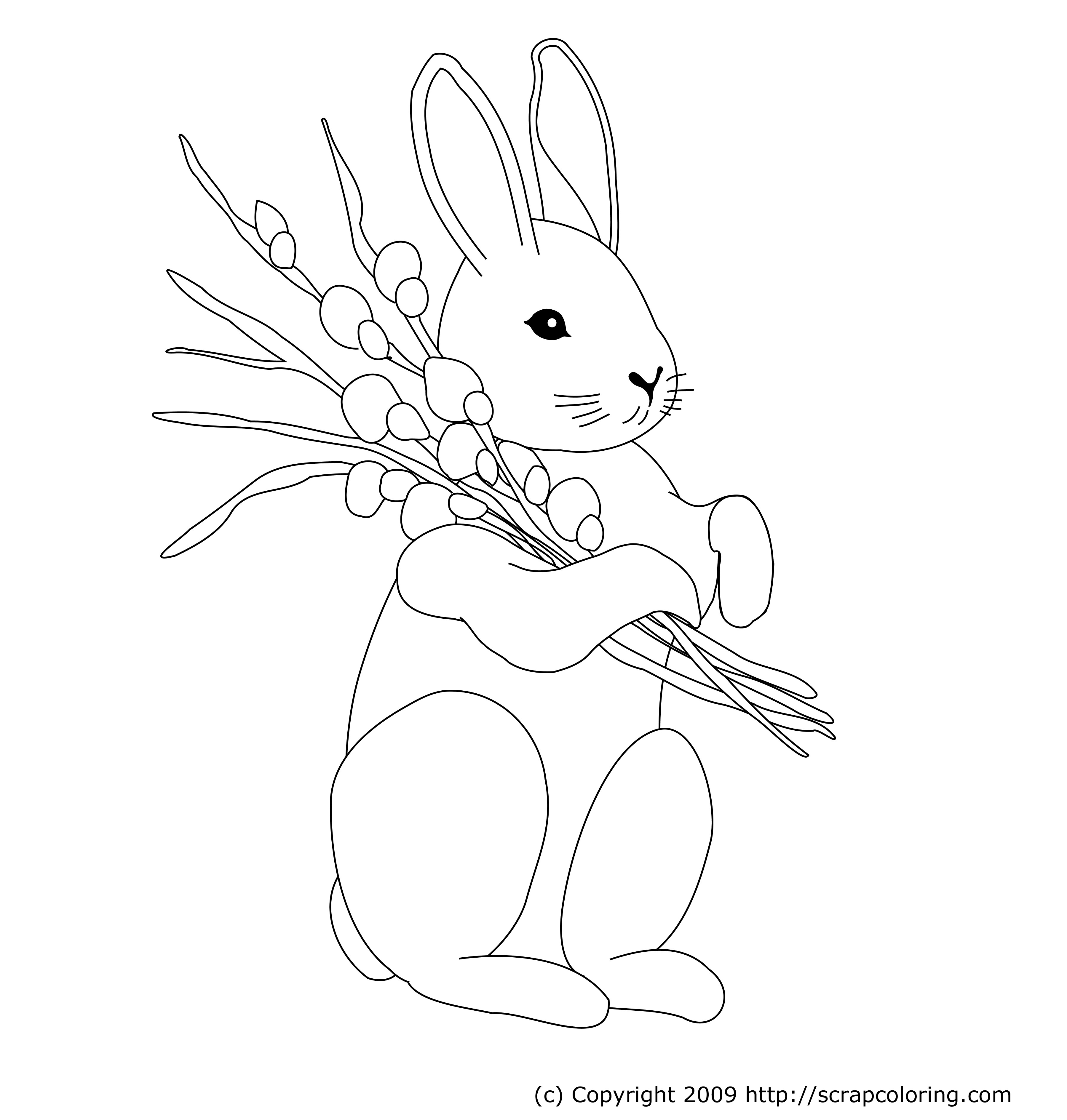 Free Coloring Pages Of Bunny Mandalas