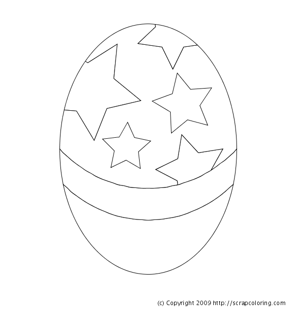 easter eggs coloring pictures. Easter Egg coloring page