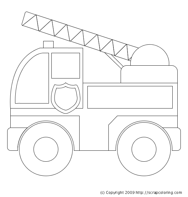 coloring pages fire strucks - photo#21