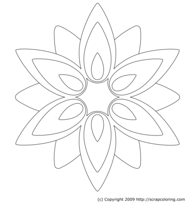 Retro Flower coloring page