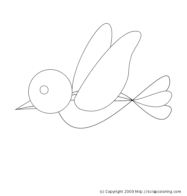flying bird coloring pages - photo#17