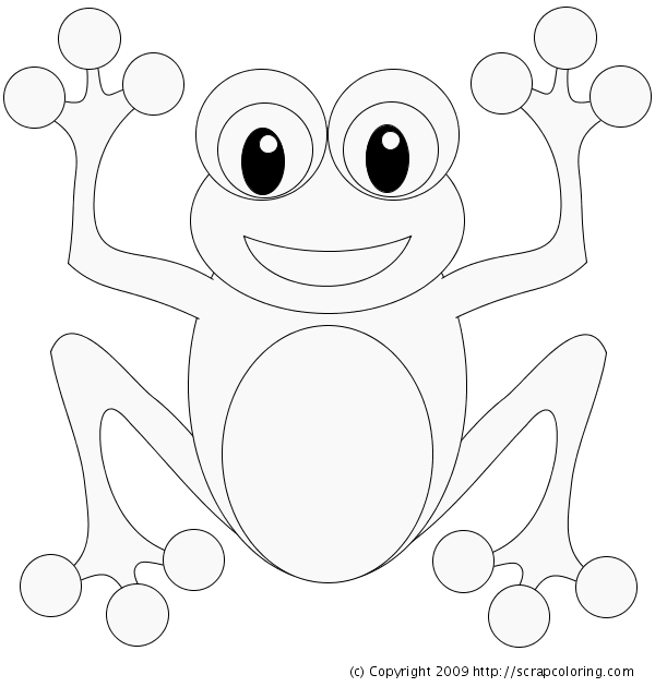 coloring pages frog - photo#34