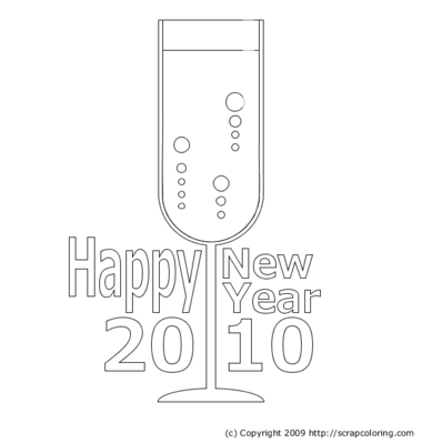 Happy New Year 2010 Greeting Card - Champagne -- 20/12/09