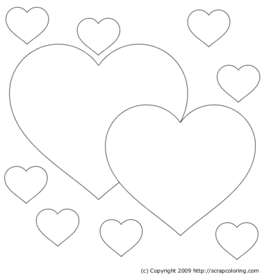 hearts 060210 - All Coloring Pages