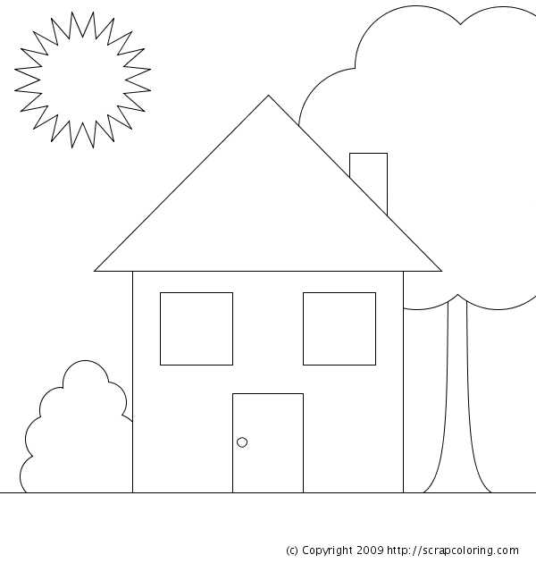 House Coloring Page House Coloring Page