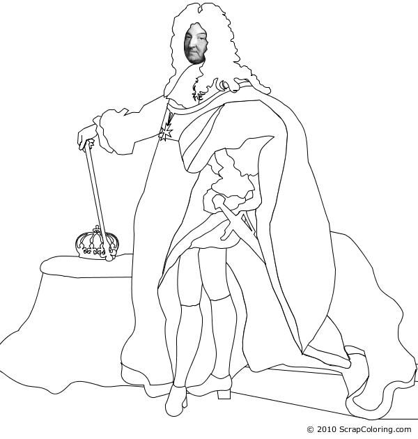 Louis XIV of France  Hyacinthe Rigaud coloring page