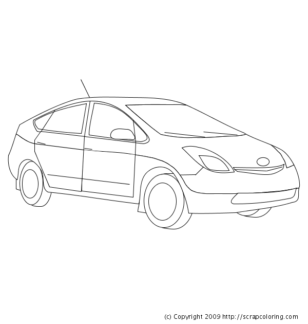 Toyota Prius Coloring Pagerhscrapcoloring: Toyota Car Coloring Pages At Baymontmadison.com