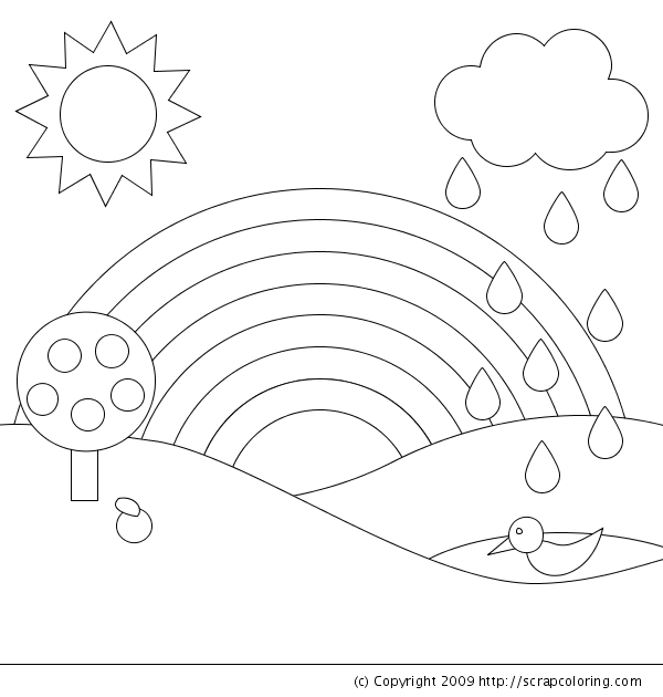 Rainbow Coloring Page Brilliant Rainbow Coloring Page Design Decoration