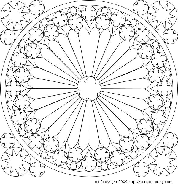 Rose Window Drawing Rose Window