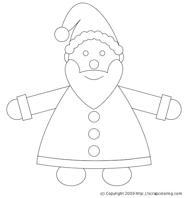 Santa claus coloring page - Dessin guirlande de noel ...