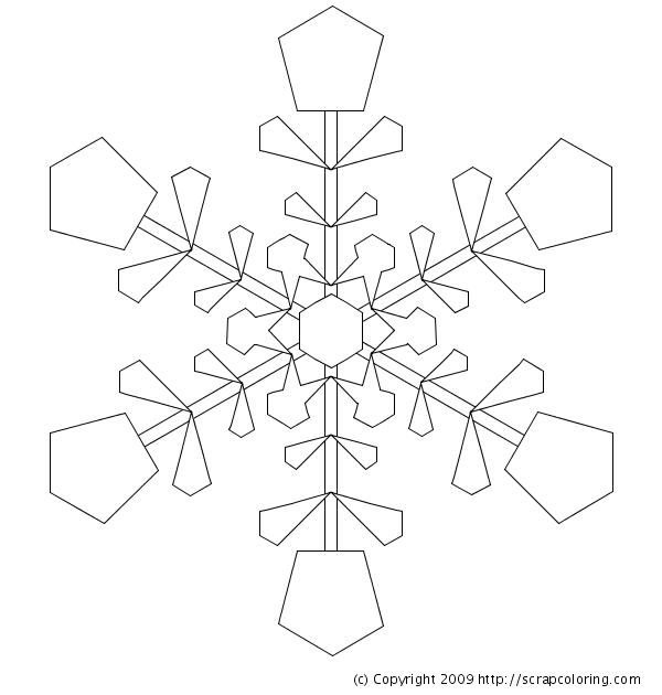 snowflake coloring page snowflake - Mandala Snowflakes Coloring Pages