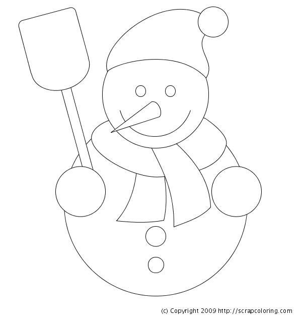Snowman coloring page - Bonhomme de neige decoration exterieure ...
