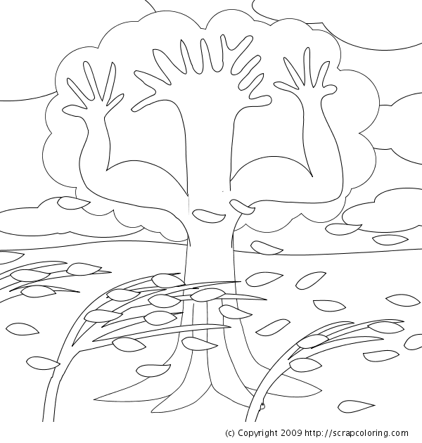 Tree With Roots Coloring Page Coloring Coloring Pages