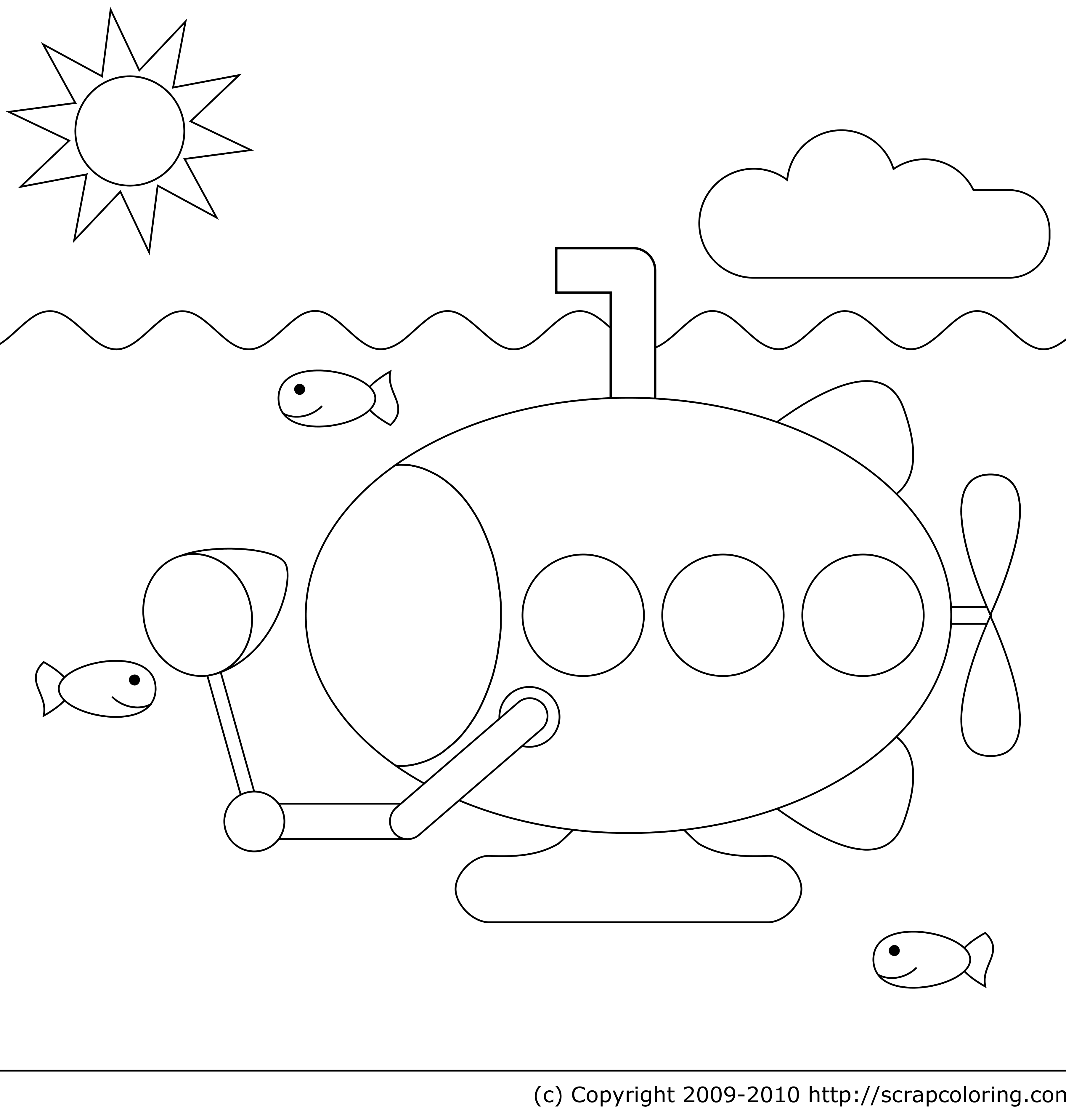 yellow submarine coloring pages - photo #22