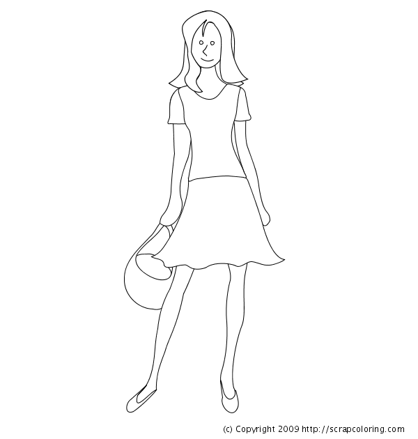 summer dress coloring page summer dress - Dress Coloring Pages