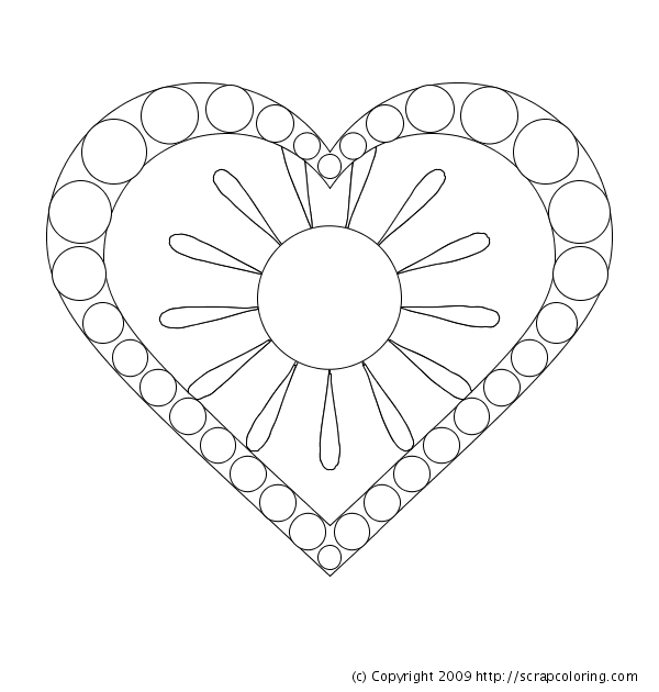 Sun In My Heart Coloring Page
