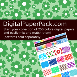 Digital papers with beautiful patterns in 250 colors