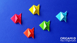 Very easy origami fish tutorial