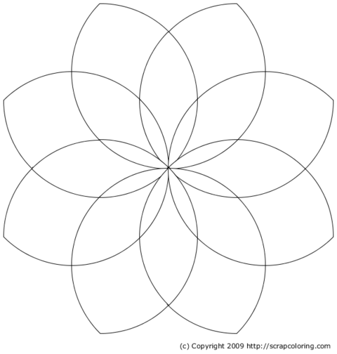Rose window with eight petals