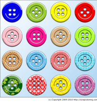 Sewing Buttons for Scrapbooking and Crafts