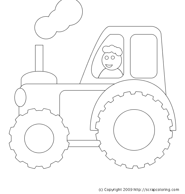 tractor coloring page tractor