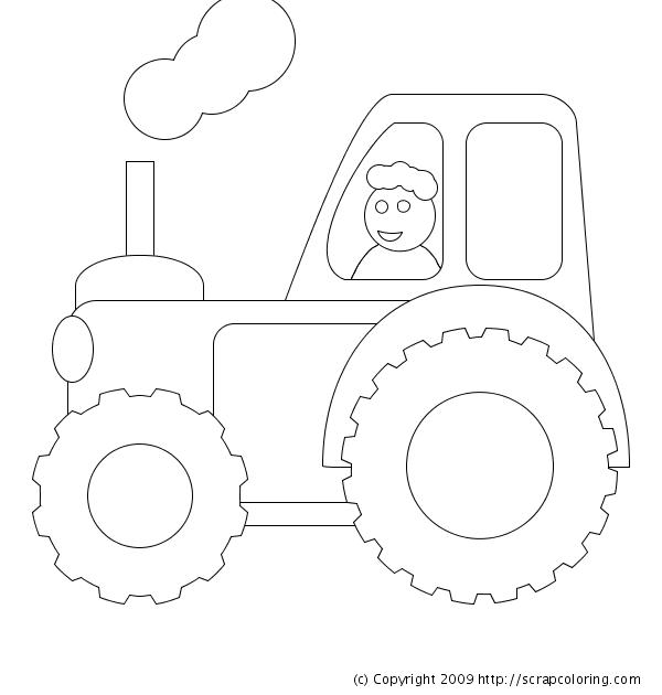 tractor coloring page tractor - Tractor Coloring Pages