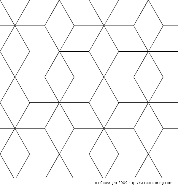Cube Coloring Pages Vasarely Cubes