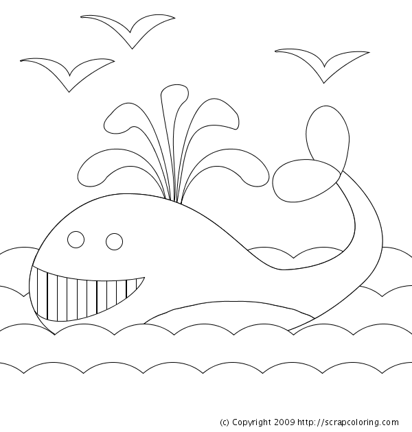 pinocchio whale coloring pages - photo#15