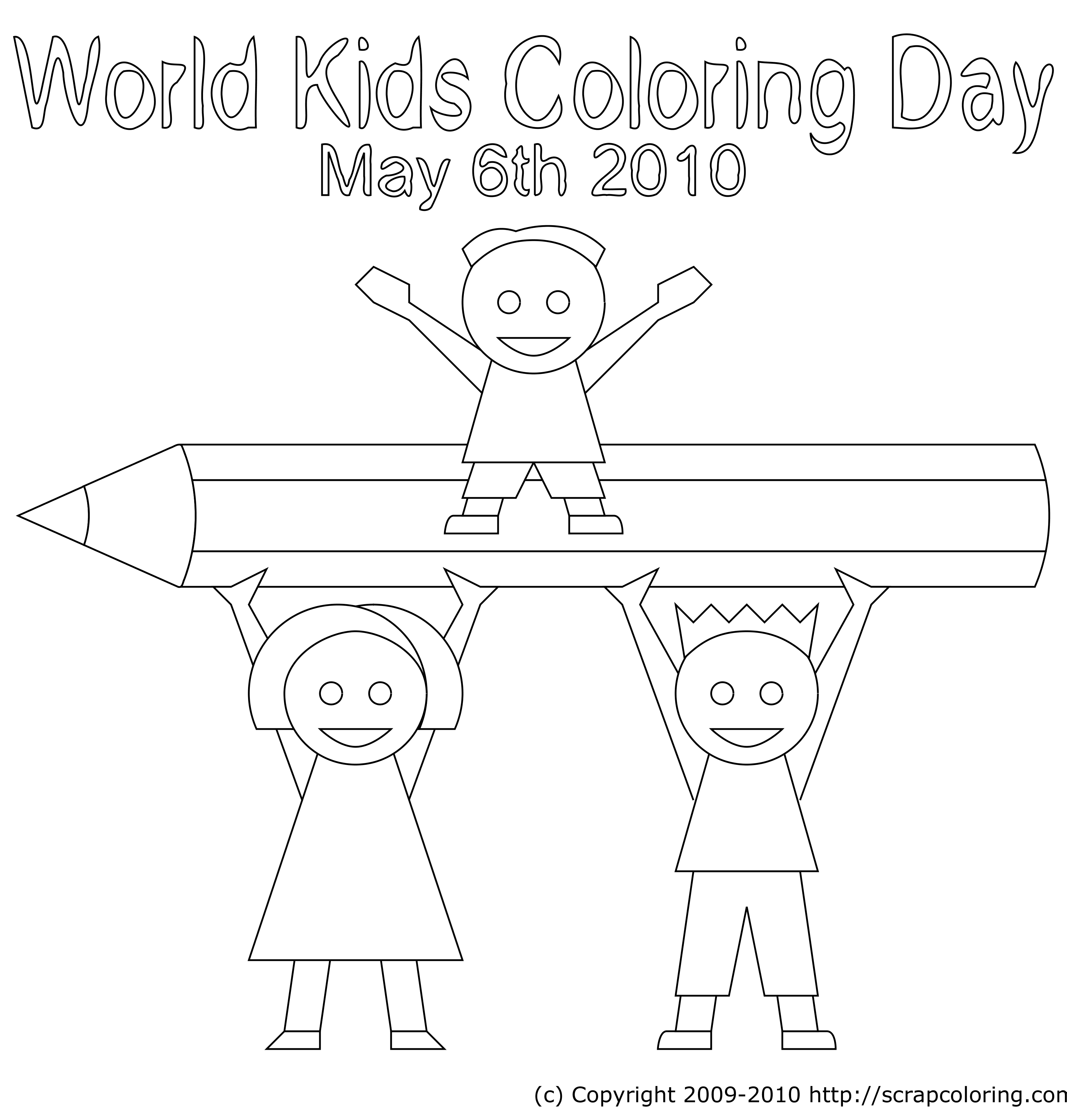 world kids coloring day 2010 coloring page