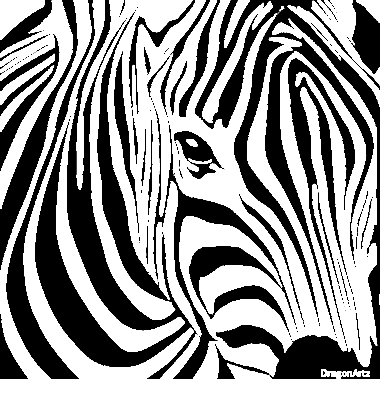 zebra head 011009 - Zebra Coloring Pages